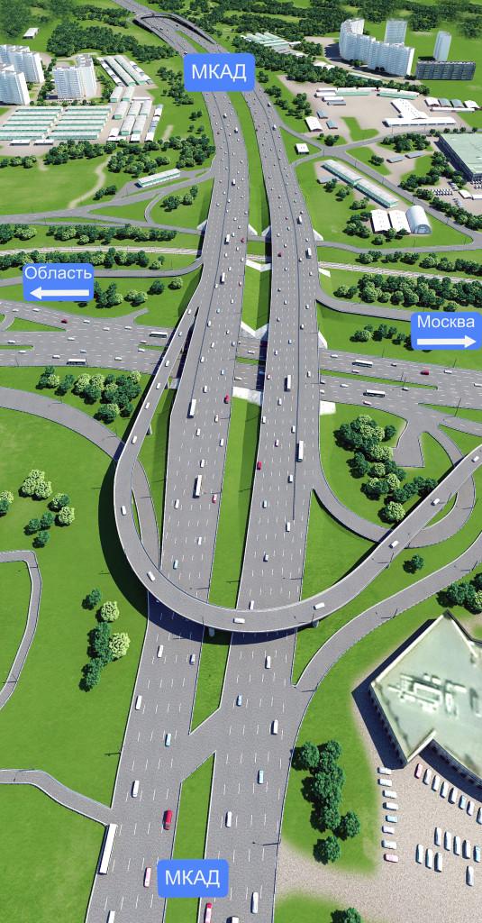Развязка МКАД с Волоколамским шоссе