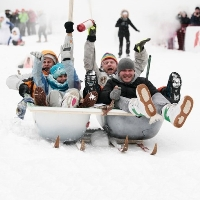 Фестиваль катания на санях Winter SaniDay 2015 в Митино