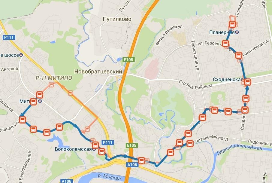 В Митино появится новый автобусный маршрут № 252