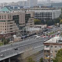 Открылась эстакада на Волоколамском шоссе у метро «Тушинская»