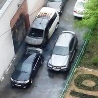 В Митино произошло возгорание трех автомобилей