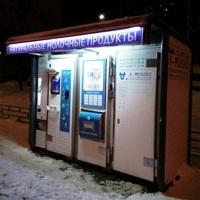 Два молочных автомата работают в Митино