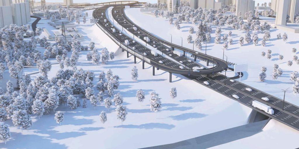 Новые съезды построят на развязке МКАД с Волоколамским шоссе