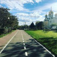 В Митино благоустроили территорию на Пятницком шоссе по программе «Мой район»