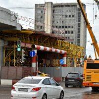 На развязке МКАД - Волоколамское шоссе закончена укладка асфальта